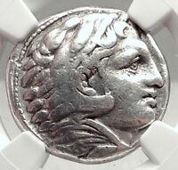 ALEXANDER III the GREAT Lifetime TETRADRACHM 325BC Silver Greek Coin NGC i73057