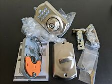 NEW Schlage Camelot Satin Nickel Electronic Deadbolt, non-retail packaging