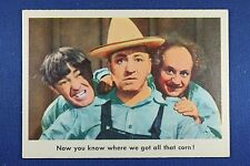 1959 Fleer - 3 Stooges - #76 Now you know where we got all that corn! - Exc.+++