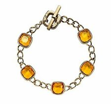 Michael Kors Goldtone Citrine Stones Curb Toggle Bracelet Mkj4213710