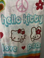 Hello Kitty Flat Sheet Peace Love Twin Crafts Sewing