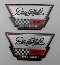 2 DALE EARNHARDT NASCAR # 3 CHEVROLET CHEVY DEALERSHIP DECAL EMBLEM BADGE JR