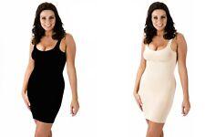 Ladies Girl's Shape-wear Full Length Control Slip Under Dress Black or Skin