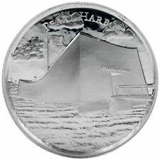 American Landmark Series Pearl Harbor Ultra High Relief 2 oz Silver USA BU Round