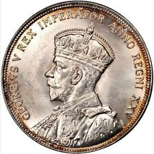 CANADA GEORGE V  1935 1 DOLLAR SILVER COIN, UNCIRCULATED, CERTIFIED PCGS MS64