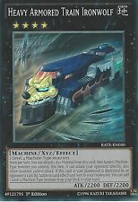 YU-GI-OH CARD: HEAVY ARMORED TRAIN IRONWOLF - SUPER RARE - RATE-EN050 1ST ED