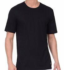 New Nautica Men's 3 Pack Crew Neck T-Shirt Black and White All Sizes