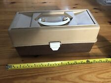 Vintage Made in Italy plastic two tier fold out tray fishing tackle box