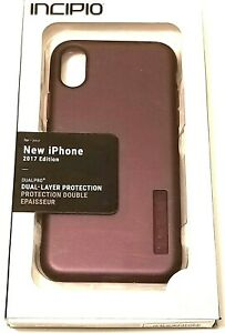Incipio Hard Shell Hybrid Case for Apple iPhone X Burgundy Red/ Purple Merlot
