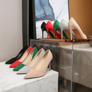 Women's Business Formal Wear Faux Leather Suede Pointed Stiletto Heels Oversize