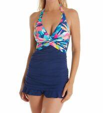 Profile by Gottex Women's Halter Swimdress One Piece Swimsuit, Bermuda Breeze 10