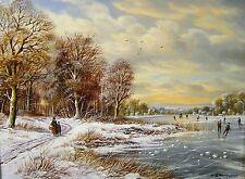 Horst Baumgart 1932 Kraftborn / Der Winter / Gemälde aus den Vierjahreszeiten