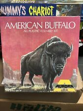 "Vintage 1964 Aurora American Buffalo ""Bison"" Model Built Up & Box Instructions"