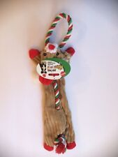 "SPOT ETHICAL HOLIDAY SKINNEEEZ CORDUROY TUG 18"" REINDEER DOG TOY. FREE SHIP USA"