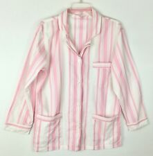 Victoria's Secret Pink & White Stripe Long Sleeve Pajama Sleep Top Shirt Size Sm