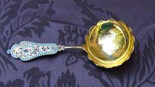 Antique 19c Russian Imperial Silver Enamel Serving Spoon by Gustav Klingert
