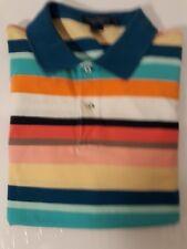 Men's Daniel Cremieux XL knit cotton multi-color rainbow polo