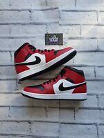 New Deadstock Nike Air Jordan 1 Mid Chicago Black Toe 554724-069 UK 9.5 US 10.5
