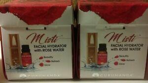 2 Misti Gurunanda Facial Hydrator with Rose Water KIT NEW