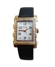 SAPHIR Ladies Dress Gold Watch Rectangular Date Stones UK