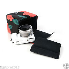 New Ifg Camera insert Partition Padded Bag Flower for Slr Mirrorless Camera Lens