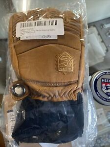 Hestra Mens Ski Gloves Fall Line Winter Cold Weather Gloves Cork Size 8 and balm
