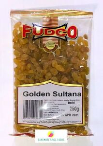GOLDEN SULTANA - GOLDEN RAISINS - FUDCO - 250g & 800g