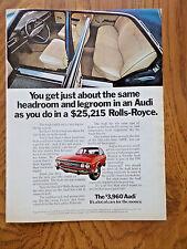 1973 Audi 100LS Ad  1972 Squirt Soda Pop Bottle Ad   Arm Wrestling Theme