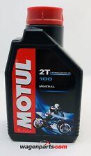 Aceite Moto engrase separado motor 2 tiempos MOTUL 100 2T, 1 litro