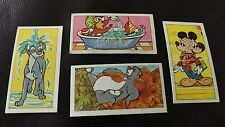 FOUR DISNEY HEALTH AND SAFETY CIGARETTE CARDS