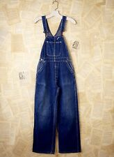 Free People Vintage Distress Blue Flint Indigo Jean Overalls One Of A Kind XS /S