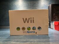 Box Only Nintendo Wii Sports White Console Box With Trays & Inserts Nice