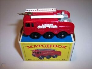 Matchbox 63B Airport Foamite Fire Tender replacement parts ladder hose words mon