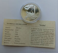 American Mint History Of The Railroad Seraing 20 Gram .999 Pure Silver Coin