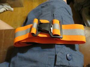 Neon Orange Hi Vis Reflective Belt, Elastic Running Safety PT US Army Military