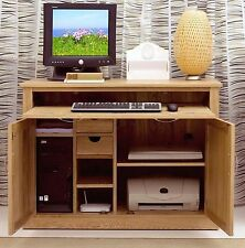 Mobel solid oak furniture hidden home office computer PC desk and felt pads