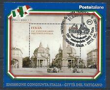 2011 ITALIA FOGLIETTO 150 ANNIVERSARIO UNITA' ITALIA ANNULLO FDC - ED