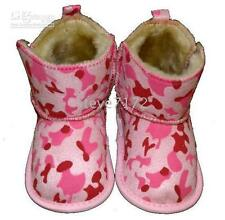 Baby Toddler boots Leopard print booties pink white brown new