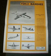 McDONNELL F2H-3 BANSHEE AIRCRAFT AIR DIAGRAM AD 6607  JUNE 1956 RECOGNITION
