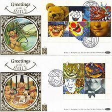 1990 GREETINGS ON 2 BENHAM GOLD NUMBER 50 FIRST DAY COVERS TEDDY BEAR SHOP SHSs