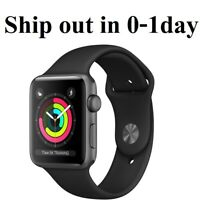 ShipNow New Apple Watch Series 3 GPS 38mm Space Gray Black w 1yr Warranty iwatch