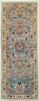 """Hand Knotted Tribal Blue Sultanabad Wool Runner Nomadic Oriental Rug 1'11"""" x 5'"""