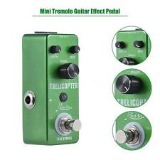 Mini Tremolo Guitar Effect Pedal True Bypass Aluminum Alloy Green S2R8