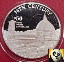 1997 Isole Cook $50 DOLLARI nascita del Rinascimento in Argento Proof Coin