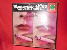 BOBBY DAIMOND SAX Remember MINA LP 1982 ITALY MINT SEALED BATTISTI MOGOL FERRIO