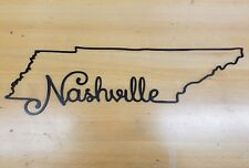 Tennessee State Border Nashville metal wall art plasma cut decor gift idea