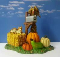 DEPT 56 Snow Village Halloween HARVEST MAILBOX!  Fall, Autumn, Pumpkins