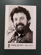 James Galway-signed photo - coa
