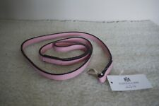 Hartman & Rose Leather Dog Lead 4ft Length Pink