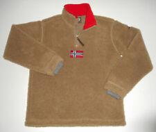 NAPAPIJRI 1/2 Zip FLEECE Pullover Jacket NORWEGIAN FLAG Vtg Deep Pile Men NEW Md